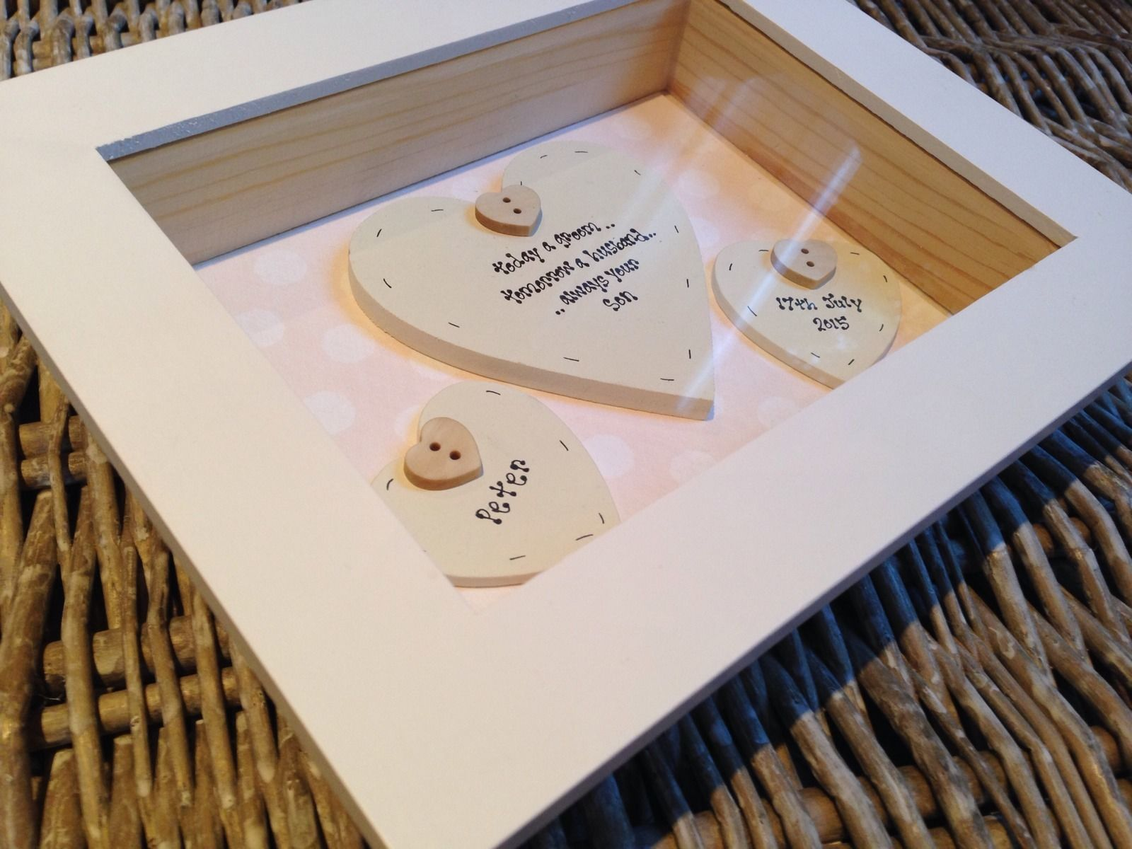 Shabby Personalised Chic Mother Of The Groom Wedding Gift Box Frame ...